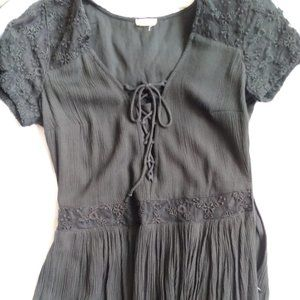 Hollister Black Lace Dress